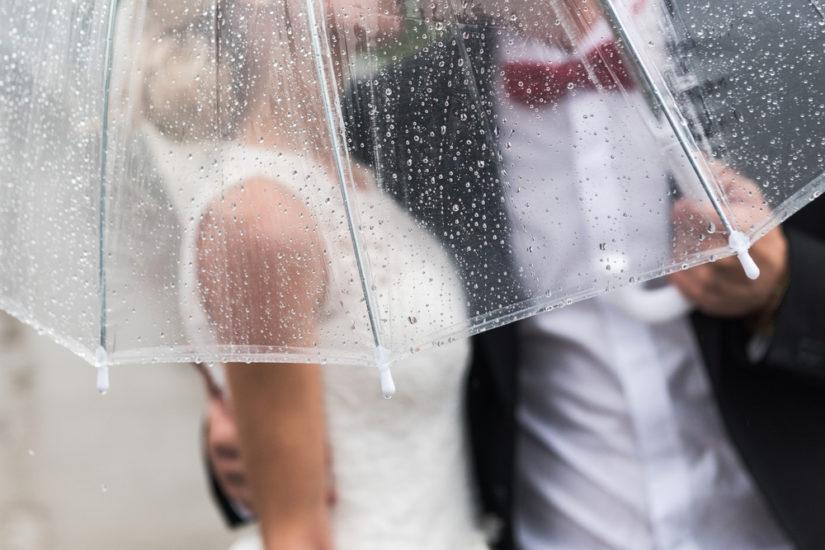 7 astuces pour s'organiser en cas de mariage pluvieux