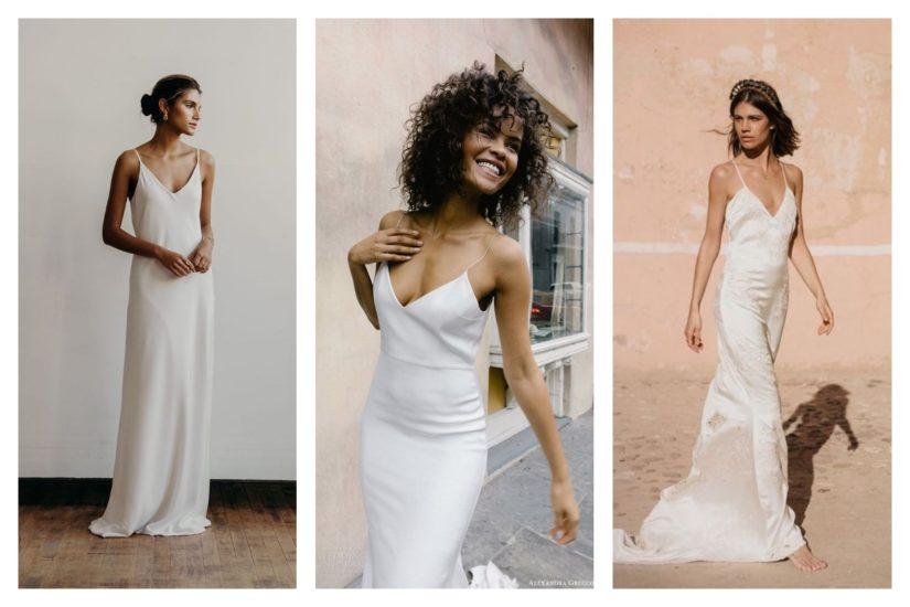 La robe de mariée slipdress on ose ou pas