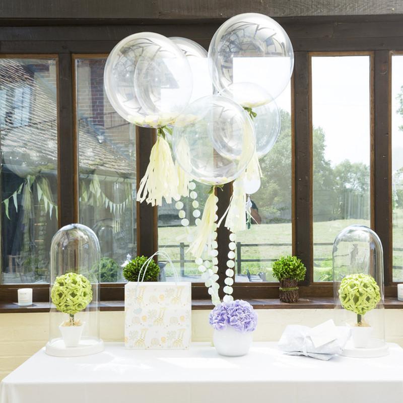 bouquet de ballons transparents