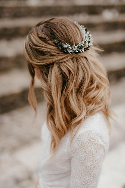 coiffure mariage pour cheveux mi-longs