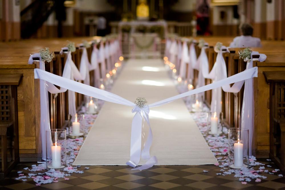 décorer votre église de mariage