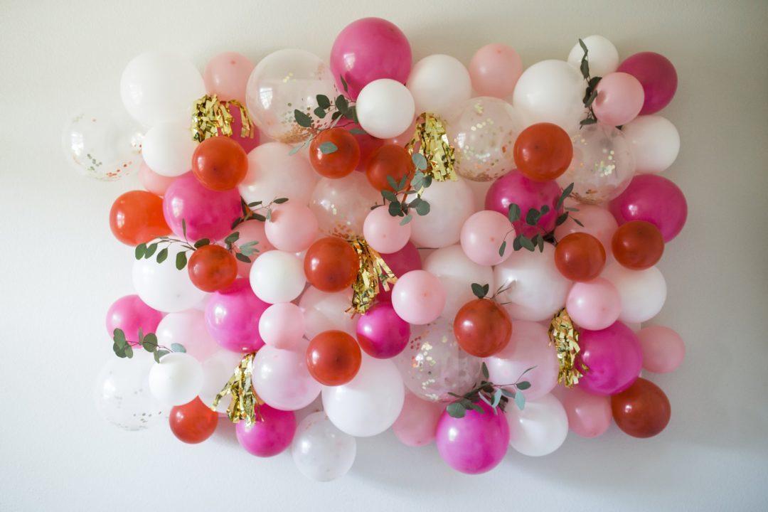 mur de ballons mariage