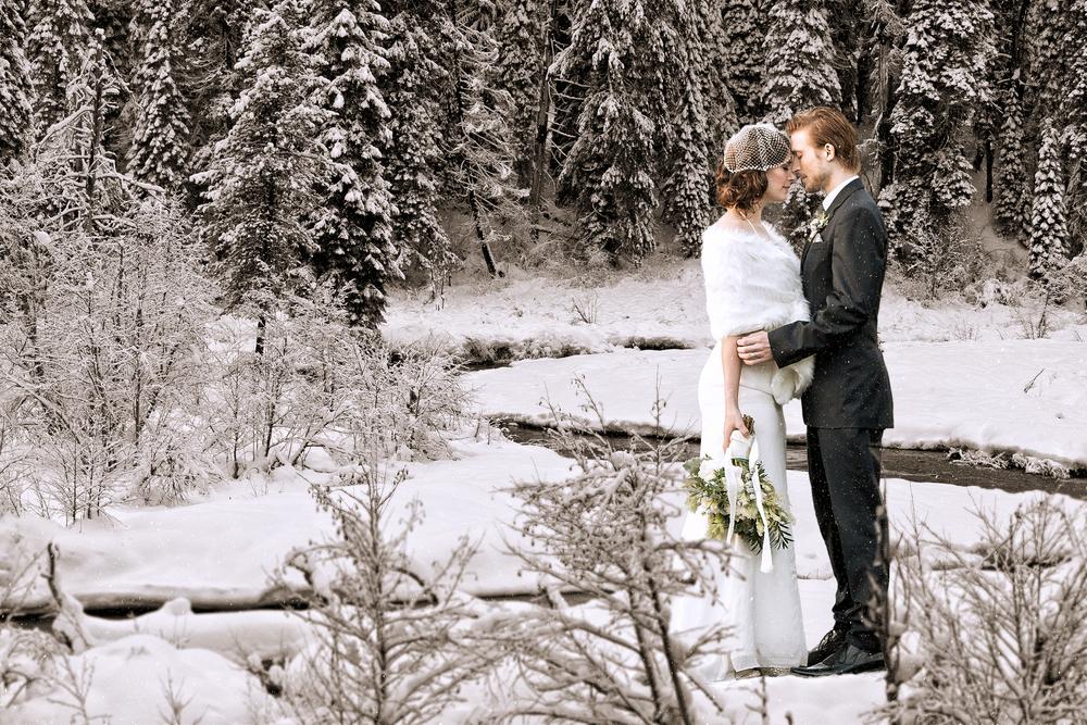 photos mariage hiver