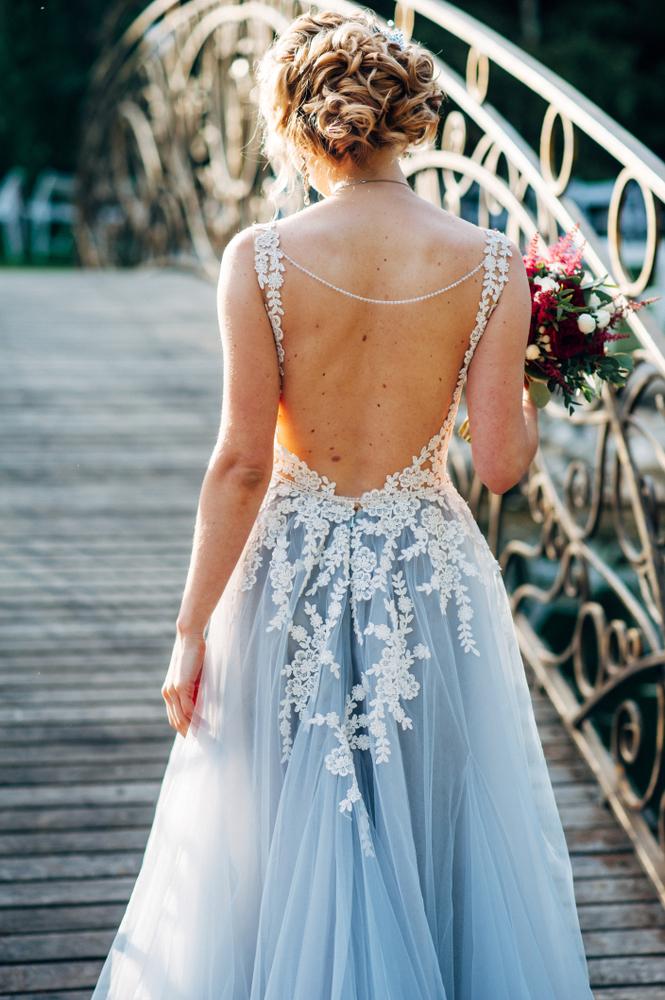 robe de mariée originale de couleur